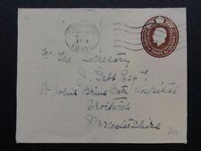 Rey George V 3x1/2d marrón envolvente prepago St. Johns salmuera Baño Hosp Droitwich
