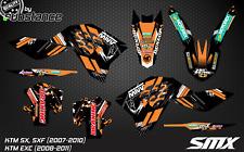 KTM SX SXF 2008 2010 MX motocross graphics kit decals stickers 2009 SXF 250 450