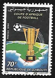 DJIBOUTI 1996 - Michel Mi 620 Yvert YT 619GA - SOCCER FOOTBALL AFRICA CUP - USED
