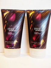 Bath Body Works BLACK AMETHYST Creamy Body Wash 8 oz, NEW x 2