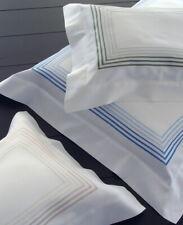 Dea Italy Euro Continental Sham Milano Egyptian Cotton Sateen Ivory Green NEW
