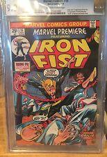 (1974) MARVEL PREMIERE #15 IRON FIST 1ST APPEARANCE ORIGIN KEY - CGC 9.0 VF/NM
