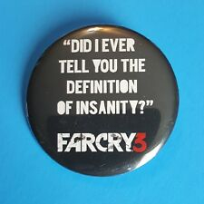 FarCry 3 Pin Pinback Button Video Game Promo Definition of Insanity