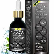 Fulvic Acid and Humic Acid Trace Mineral Drops 6 Month Supply + Electrolyte Ener