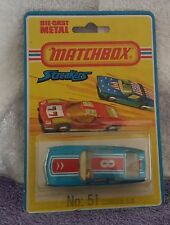 Matchbox 51 Citroen SM Streakers MOC MIP carded 1/64 Superfast Blister Pack Mint