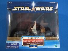 Star Wars A New Hope Death Star Trash Compactor Princess Leia & Chewbacca Set 2