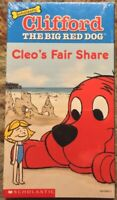 """""""Clifford The Big Red Dog - Cleo's Fair Share"""" VHS Promotional Scholastic Sealed"""