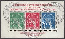 Berlin Block 1 III Sonderstempel Fußball-Meisterschaft 1950 Fotoattest 3500 ME