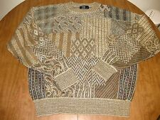 TSR outrageous 1980s crewneck sweater XL earth tones Cosby warm tans nature OG