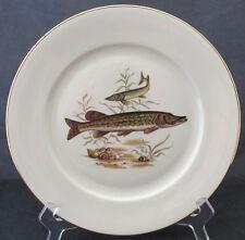 VINTAGE BAVARIA FISH STURGEON DINNER PLATE 10 INCHES