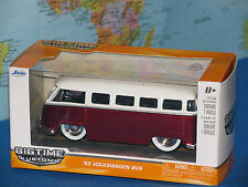 1/32 Jada Bigtime Kustoms VW 1962 Volkswagen Bus Rouge 62 Métal Moulé