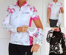 Women's Long Sleeve Full Zipper Cycling Jerseys