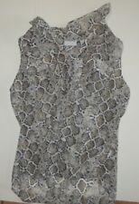 New York & Company Sleeveless Snake Skin Print Blouse Shirt Medium #25
