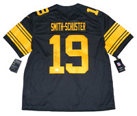 JUJU SMITH-SCHUSTER SIGNED PITTSBURGH STEELERS #19 NIKE LIMITED JERSEY BECKETT