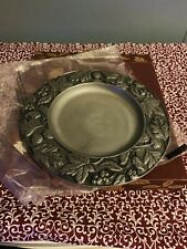 "Longaberger Falling Leaves 8"" Metal Candle Plate #77321. * New *"