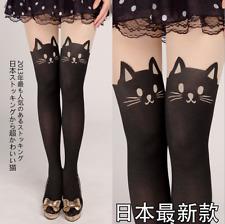 Japanese Harajuku Sweet Lolita Cat Kawaii Silk Stockings Pantynose Cute Socks