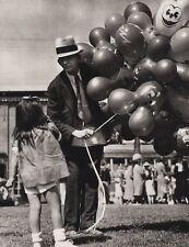 1940's Vintage 16x20 CIRCUS CARNIVAL Girl Balloon Vendor Ringling Brothers Art