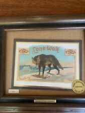 Vintage Lone Wolf Cigar Label- Framed
