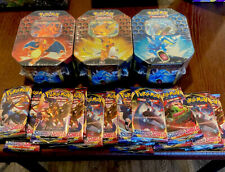 ONE Pokemon TCG HIDDEN FATES TIN NEW & SEALED IN STOCK + BONUS SEALED BOOSTER