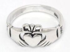 Claddagh Irischer Freundschafts Ring Silber Gothic Schmuck - NEU
