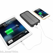 NEW 300000mAh DualUSB Portable Solar Battery Charger For All Smart Phones-BLACK