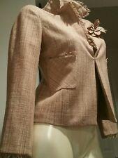 bcbg max azria beige, dusty pink  blazer jacket short top, m, NEW, silk 100%