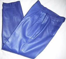 Begedor Italia Vintage 1980s Pants Purple Leather 8