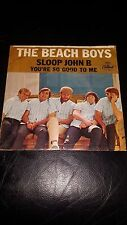 "Beach Boys 45 with Picture Cover ""Sloop John B"" / ""You're So Good To Me"""