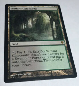 Verdant Catacombs NM Zendikar Land Rare Magic The Gathering MTG Hard_8s_Magic