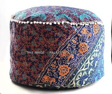 Indian Cotton Ottoman Foot Stool Pouffe Cover Handmade Mandala Pouffe Pouf Cover