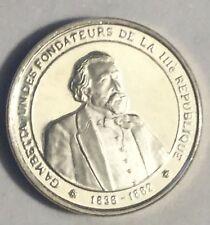 Médaille Histoire De France En Argent Gambetta Fondateur De La 3ème Republique