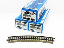 MARKLIN LOT 30 RAILS COURBES VOIE M REF. 5100 AVEC BOÎTES - ECHELLE H0 1/87