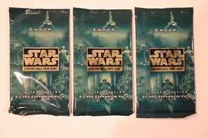Star Wars CCG 3x Endor Booster Packs SWCCG Decipher NEW Sealed