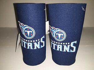 Tennessee Titans NFL 2 pack Ultra Slim Can Koozie cooler hugger