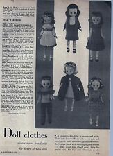 """Betsy McCall Doll 8 1/2"""" Knit Doll Clothes copy of Original Pattern"""