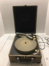 Vintage COLUMBIA MODEL 202 Tube-type 3-Speed Portable Record Player / Phonograph