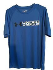 Under Armour Heat Gear Men's Royal Blue Short Sleeve Loose Fit T Shirt Size M