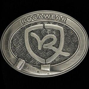 Rw Rocawear Logo Designer Fashion Mens 00s Belt Buckle