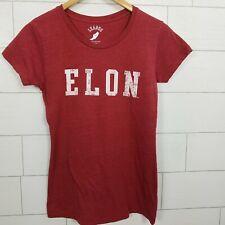 Elon T-Shirt Women's Fit Size Medium Short Sleeve Girlie Fit RED North Carolina