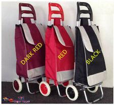 1x Shopping Trolley Cart Bag Foldable Wheels Market Carts Bags Luggage Basket