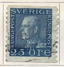 Sweden 1920-25 Early Issue Fine Used 25ore.  118396