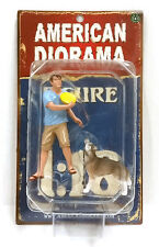 American Diorama: Set of 2: Man and His Dog 1/18 Scale
