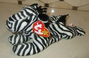 Ty Beanie Baby Ziggy the Zebra style 4063 DOB 12-24-95 MWMT Free Shipping