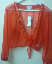 Brand new Together orange bolero size 44