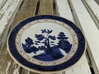 Royal Doulton real old willow 2005 plate mini coffee tea blue