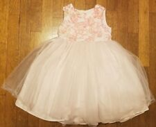Girls Special Occasion by Marmellata Tulle Dress PINK Flowers Sz 4