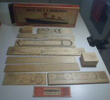 Original Wood Model French Line Normandie