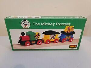 Brio Wooden Railway  #33427 Mickey Express New in Box 1994