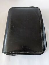 Franklin Covey Planner Agenda Black Full Grain Leather 6 Ring Compact 75 X 55