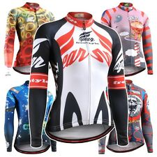 FIXGEAR Women's Cycling Jersey Long Sleeve Series MTB Bike Shirts Bicycle Road